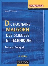 Deedr.fr Dictionnaire Malgorn des sciences et techniques français-anglais Image