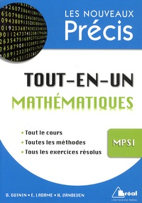Daniel Guinin et E. Ladame - Tout-en-un Mathématiques MPSI.