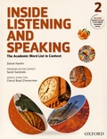 Daniel Hamlin et Sarah Sandoski - Inside Listening and Speaking - The Academic Word List in Context - Book 2.