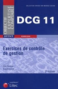 Daniel Larue et Guy Dumas - Exercices de contrôle de gestion - DCG Epreuve N°11.