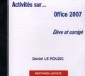 Daniel Le Rouzic - Office 2007 - CD-ROM élève et corrigé.
