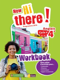 Daniel Leclercq et Catherine Winter - Anglais 4e A2-B1 New Hi there! - Workbook.