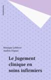 Daniel Lefebvre - Le jugement clinique en soins infirmiers.