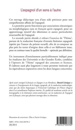 """L'espagnol d'un sens à l'autre. Equivalences expressives entre le français et l'espagnol - Préparation à l'épreuve de """"Thème"""" des concours et licences"""