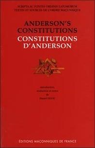 Daniel Ligou - Constitutions d'Anderson - 1723.
