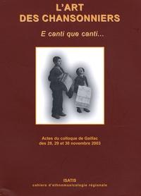 Daniel Loddo - L'art des chansonniers - E canti que canti....