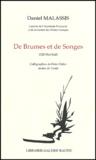 Daniel Malassis - De Brumes et de Songes.