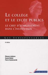 Le collège et le lycée publics - Le chef détablissement dans linstitution.pdf