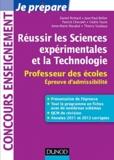 Daniel Richard et Jean-Paul Bellier - Réussir les Sciences expérimentales et la Technologie - Professeur des écoles, Epreuve d'admissibilité.