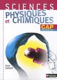 Daniel Sapience - Sciences physiques et chimiques CAP - Programmes 2010.