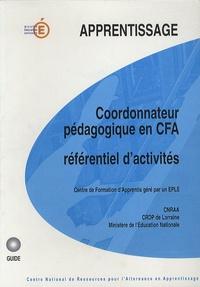 Daniel Vosgien - Coordonateur pédagogique en CFA - Référentiel d'activités.