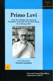 Daniela Amsallem - Primo Levi - Actes du colloque international de Chambéry, Université Savoie Mont Blanc, 25 et 26 mars 2015.