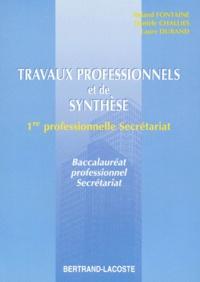 Danièle Challies et Richard Durand - Travaux professionnels et de synthèse - Classe de première.