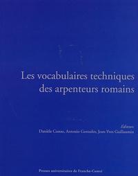 Les vocabulaires techniques des arpenteurs romains - Actes du Colloque international (Besançon, 19-21 septembre 2002).pdf