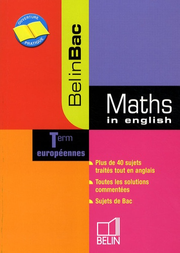 Danièle Gibbons - Maths in english Tle européennes.