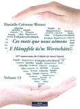 Danielle Crévenat-Werner - Ces mots que nous aimons - Volume 13.