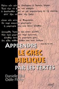 Danielle Ellul et Odile Flichy - Apprendre le grec biblique par les textes. 1 Cédérom