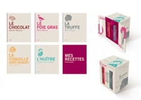 Danielle Monteaux et Elvira Masson - Le petit placard gourmand - Coffret 6 volumes : Le chocolat ; Le foie gras ; La coquille saint-jacques ; L'huître ; La truffe ; Mes recettes gourmandes.