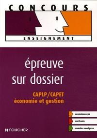 Danielle Trémeau et Yves Virton - Epreuve sur dossier CAPLP/CAPET Economie et gestion.