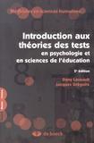 Dany Laveault et Jacques Grégoire - Introduction aux théories des tests en psychologie et sciences de l'éducation.
