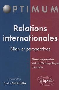 Dario Battistella - Relations internationales - Bilan et perspectives.