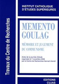 Dario Fertilio et Stéphane Courtois - Mémento Goulag - Mémoire et jugement du communisme.