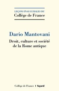 Livres audio télécharger iphone Droit, culture et société de la Rome antique in French