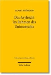 Das Asylrecht im Rahmen des Unionsrechts - Entstehung eines föderalen Asylregimes in der Europäischen Union.
