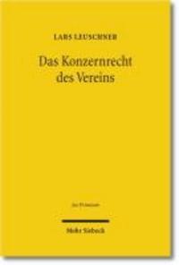 Das Konzernrecht des Vereins.