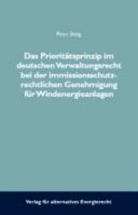 Das Prioritätsprinzip im deutschen Verwaltungsrecht bei der immissionsschutzrechtlichen Genehmigungsverfahren für Windenergieanlagen.