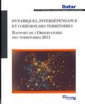 DATAR - Dynamiques, interdépendance et cohésion des territoires Rapport de l'Observatoire des territoires 2011.