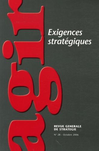 Andreu Solé et Josée Landrieu - Agir N° 28, Octobre 2006 : Exigences stratégiques.