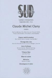 Marc Baron et Daniel Leuwers - Autre Sud N° 26, Septembre 200 : Claude Michel Cluny.
