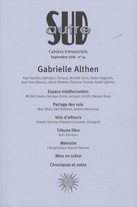 Paul Farellier et André Ughetto - Autre Sud N° 34, Septembre 200 : Gabrielle Althen.