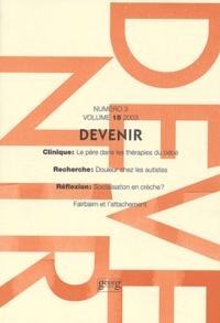 Paul Barrows et Eric Pernon - Devenir Volume 15 N° 3/2003 : .