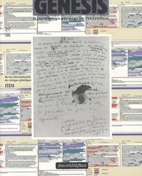 Jean-Louis Lebrave et Nathalie Mauriac Dyer - Genesis N° 27 - 06 : Manuscrits, recherche, invention.