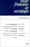 Georges Felouzis et Bernard Convert - Revue française de sociologie N° 44 / 3ème trimest : .