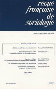 Nancy Kentish-Barnes et Philippe Ponet - Revue française de sociologie N° 48-3, Juillet-Sep : .