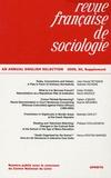 Jean Stoetzel - Revue française de sociologie N° 50, 2009 : An annual english selection.