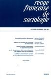 Mathieu Charest et Pierre Tremblay - Revue française de sociologie N° 50-4, Octobre-déc : .