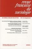 Jean Stoetzel - Revue française de sociologie N° 52, 2011, Supplém : .