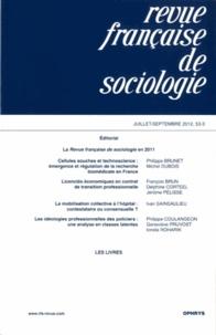 Olivier Galland et Pierre-Michel Menger - Revue française de sociologie N° 53-3, Juillet-Sep : .