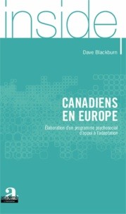 Dave Blackburn - Canadiens en Europe - Elaboration d'un programme psychosocial d'appui à l'adaptation.