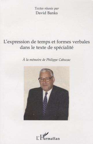 David Banks - L'expression de temps et formes verbales dans le texte de spécialité.