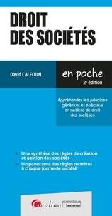 David Calfoun - Droit des sociétés - Apréhender les principes généraux et spéciaux en matière de droit des sociétés.