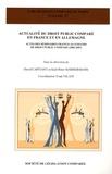 David Capitant et Karl-Peter Sommermann - Actualité du droit public comparé en France et en Allemagne - Actes des séminaires franco-allemands de droit public comparé (2006-2007).
