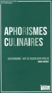 Aphorismes culinaires - Gastronomie : art de savoir bien parler.pdf