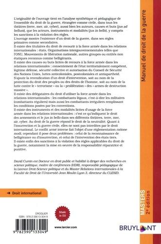 Manuel de droit de la guerre 2e édition