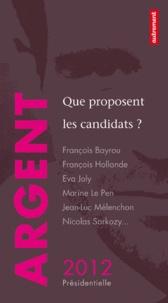 David d' Equainville - Argent - Que proposent les candidats ?.