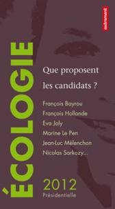 David d' Equainville - Ecologie - Que proposent les candidats ?.